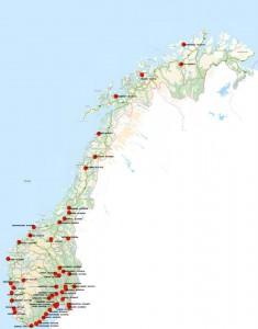 Her er alle Norgesboksene avtegnet